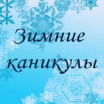 Зимние каникулы в школах района